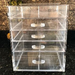 💯 AUTHENTIC CLEAR CUBE 4 DRAWER MAKEUP ORGANIZER!